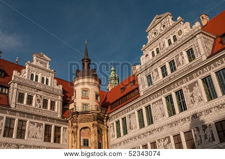 Dresden Castle (schloss) And Clock Tower, Germany