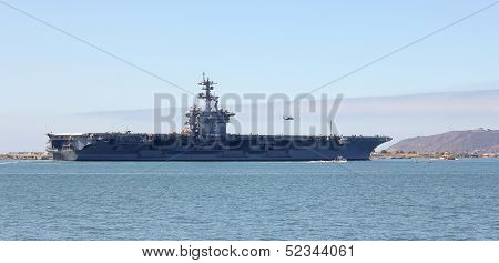 A Shot Of The Uss Carl Vinson (cvn-70)