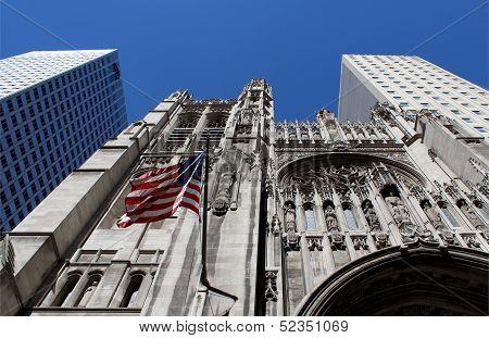 Saint Thomas Church, Located At The Borough Of Manhattan, New York