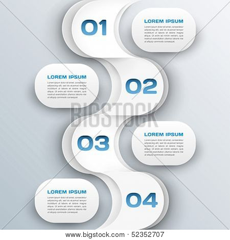 business background - abstract 3d paper infographics template