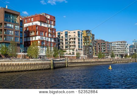 Part of the Hafencity in Hamburg