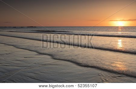 Sunrise on Tyninghame Beach, East Lothian, Scotland