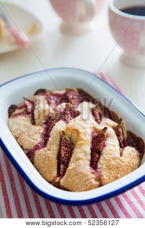 Almond Pie and fig