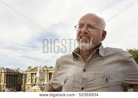 Senior Man In Paris, France