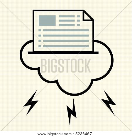 Everything in The Cloud. Cloud computing concept. Vector