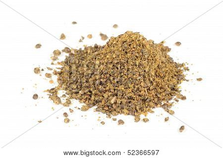 Pile Of Groundbait Isolated On White Background