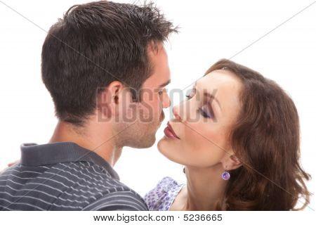 Closeup Portrait von ein glückliches paar