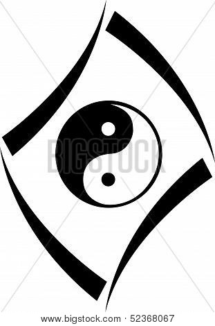 Harmony Icon concept with yin and yang symbol