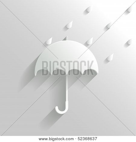 Abstract Umbrella On White Background