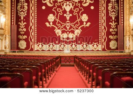 Auditorium And Curtain