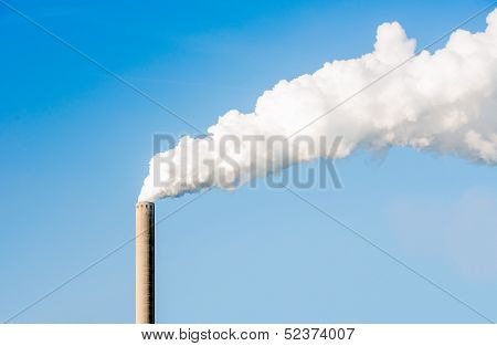 White Smoke Against A Blue Sky