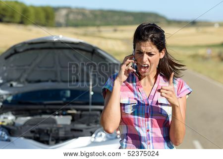 desperate woman after accident