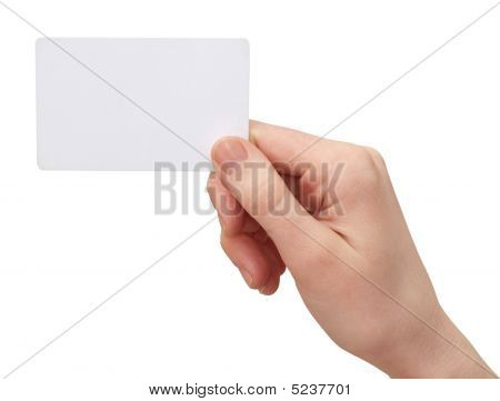 Cash Card In Your Hand