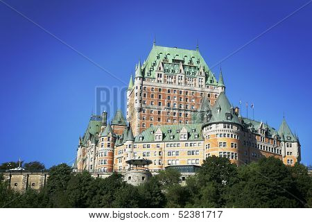 Chateau Frontenac in Quebec city, Canada.