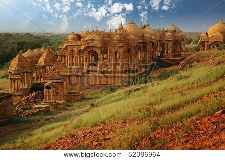 Vyas chhatri, or vyas cenotaphs , has  built by Brahmin as memoir are of 15th century full of art and stone carving.