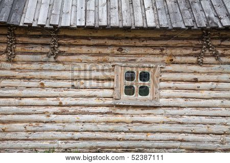 Wooden House And A Window