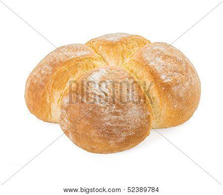 Four Buns Bread Closeup