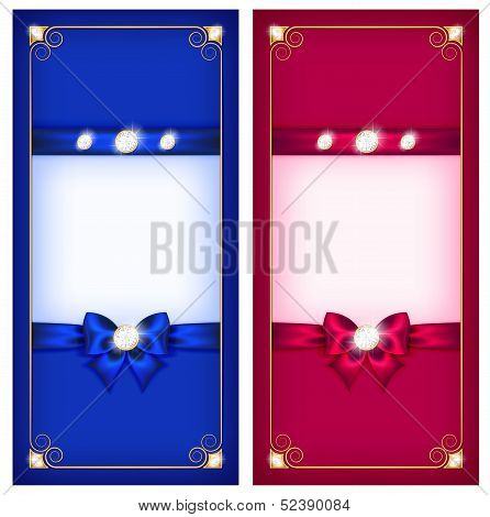Greeting Cards Blue And Pink