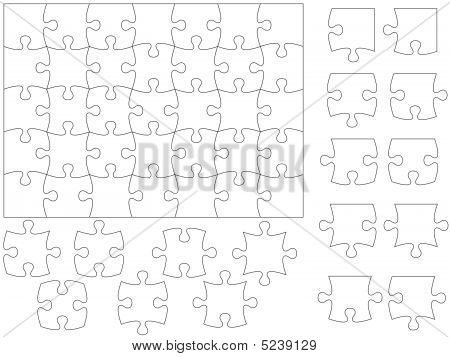 Jigsaw Puzzle And Pieces.  Easy To Use.