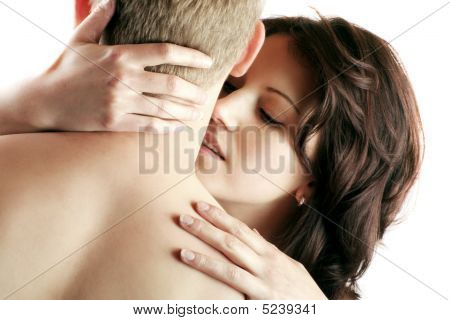 Sexy Couple Is Kissing