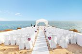 stock photo of marriage ceremony  - Beautiful decorations for the wedding ceremony when - JPG