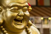 picture of buddha  - A close up shot of the chinese laughing buddha - JPG