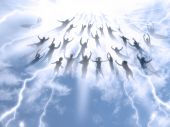 picture of day judgement  - The Rapture of People out of the world - JPG