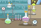 foto of beaker  - Chemical Laboratory - JPG