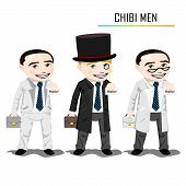 stock photo of chibi  - Chibi businessman vector - JPG