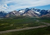 picture of denali national park  - Polychrome Pass in Alaska - JPG