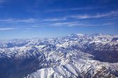 stock photo of aconcagua  - Range of the Andes between Argentina and Chile