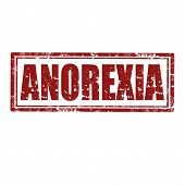 foto of anorexia  - Grunge rubber stamp with word Anorexia - JPG