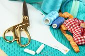 stock photo of clippers  - Sewing tools fashion design - JPG