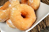 foto of graff  - sweet donut fried typical nepolitan food called graffe - JPG
