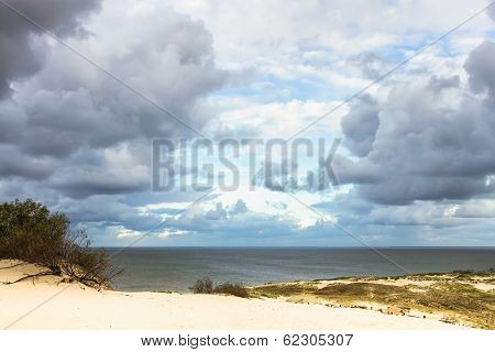 View To Curonian Gulf From Sand Dunes