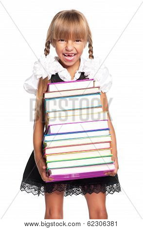 Girl with books