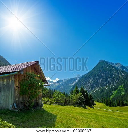 hut in the alps