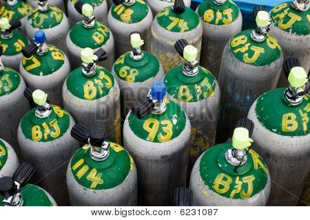Scuba Diving Oxygen Tanks