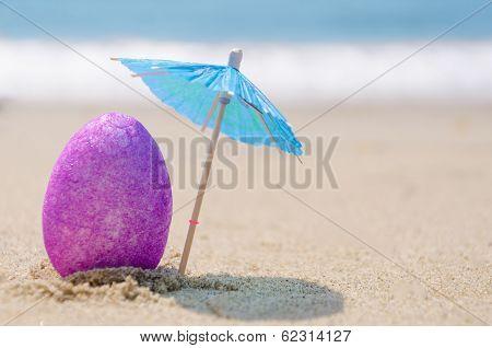 Easter Egg On The Beach