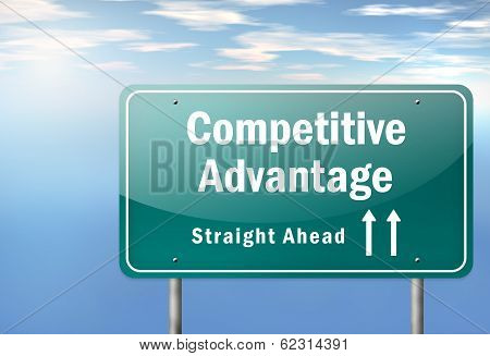 Highway Signpost Competitive Advantage