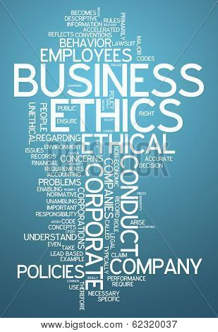 Word Cloud Business Ethics