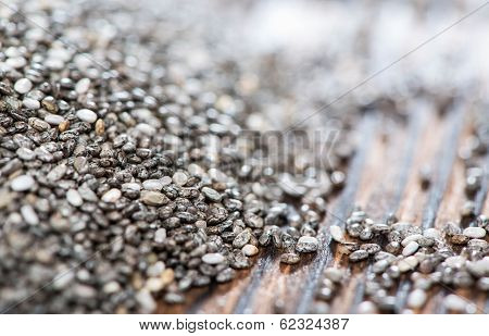 Chia Seeds Background (close-up Shot)