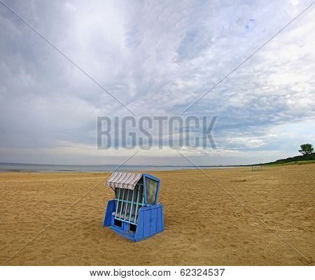Hooded Beach Chair At The Baltic Sea