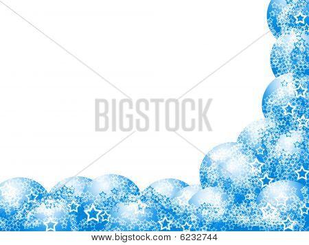 Elegant Christmas Blue Corner Frame