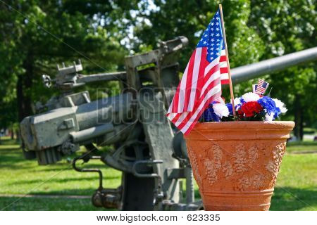 American Patriotism - Flag And Gun
