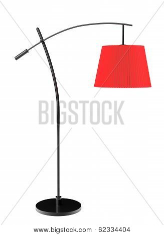 Red Balanced Floor Lamp
