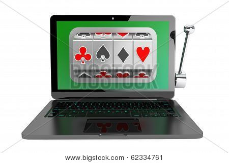 Slot Machine Inside Laptop
