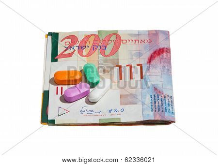 Shekel Currency and Pills