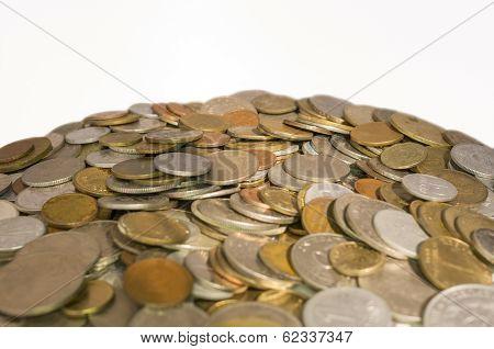 Heap Of Mixed Coins.