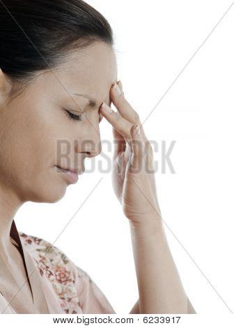 Headache Woman Asian